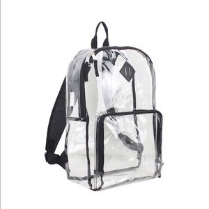 Clear back pack